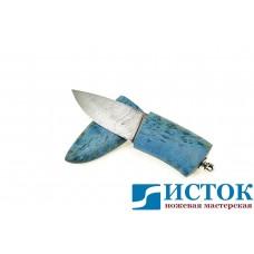 Нож шейный из дамасской стали в деревянных ножнах A298