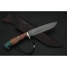 Нож Фортуна сталь резной дамаск A272
