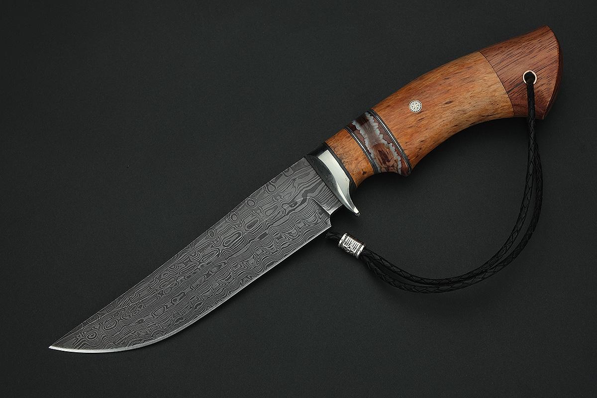 Нож Адмирал 2 сталь  резной дамаск A274
