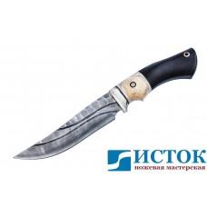 Нож Адмирал 2 из дамасской стали c рукоятью из кости и граба A190