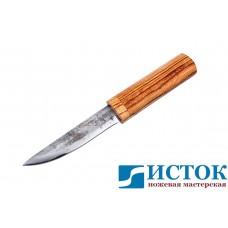 Нож Якут из 9ХС в деревянных ножнах из зебрано A193