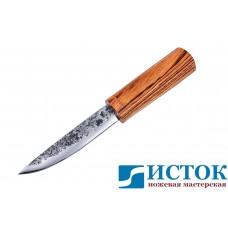 Нож Якут из кованой 9ХС с рукоятью из зебрано A223