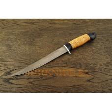 Нож Филейный из кованой стали Х12МФ с рукоятью из бересты и граба A119