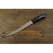 Нож Филейный из булатной стали с рукоятью из черного граба A120