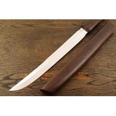 Нож Самурай 1 из стали Bohler K340 в деревянных ножнах из венге A135