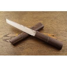 Нож Самурай 1 из дамасской стали в деревянных ножнах A136