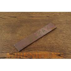 Заготовка для ножа из порошковой стали ELMAX, размеры 200х40х3,7мм.
